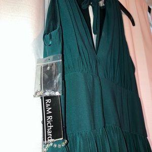 NWT Long Formal Teal Dress